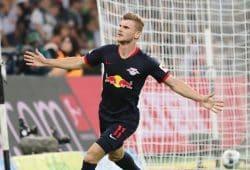 Timo Werner erzielte in Gladbach alle Tore für Leipzig. Foto: Gepa Pictures