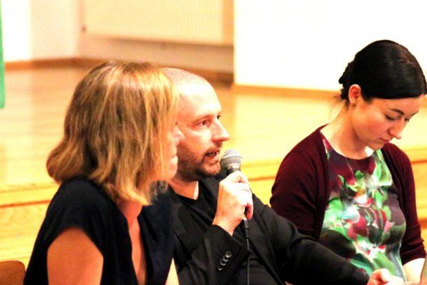 In der Haltung und den Zielen natürliche Koalitionspartner in Sachsen - eigentlich. Juliane Nagel (Linke), Lars Menzel (SPD) und Paula Piechotta (Grüne) beim Wahlforum. Foto Michael Freitag