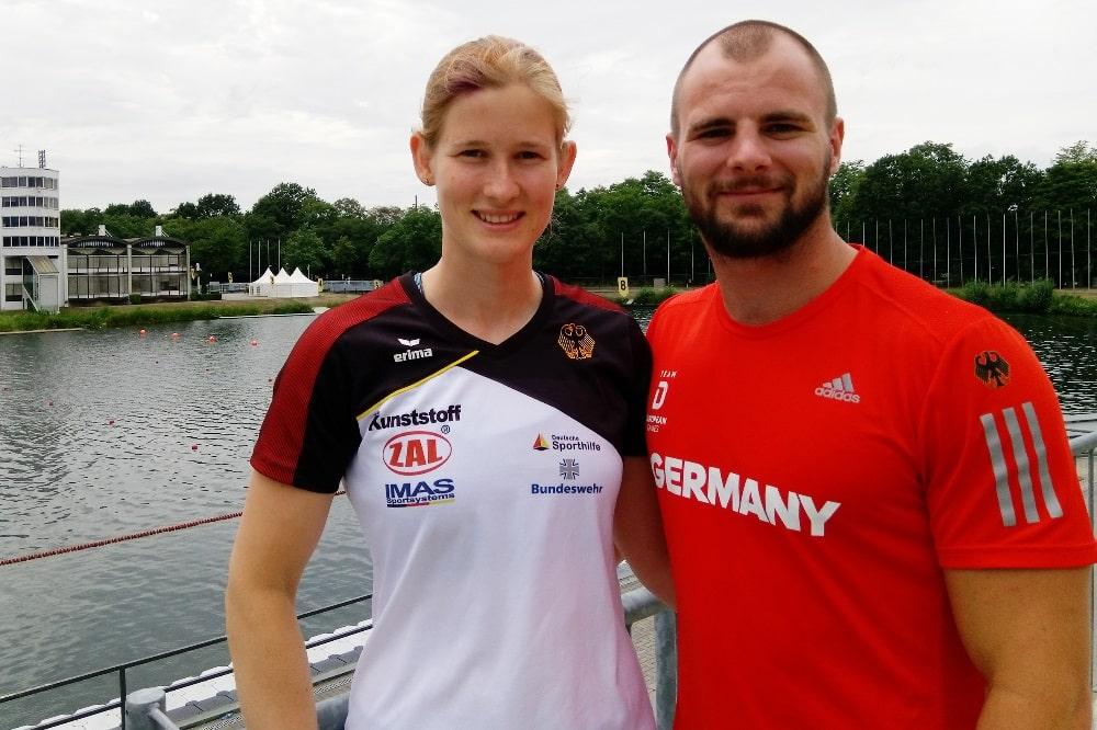 Johanna Handrick und Peter Kretschmer im Trainingslager in Duisburg. Quelle: privat