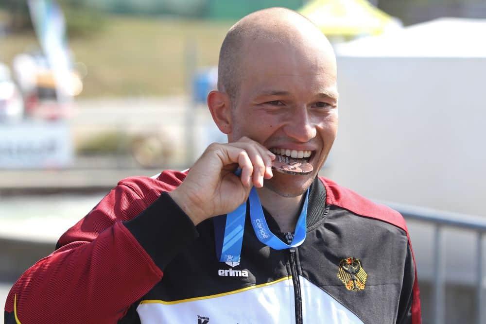 Olympia ein Stück näher: Franz Anton (LKC Leipzig) holte die Bronze-Medaille im Kanu-Einer. Foto: Jan Kaefer