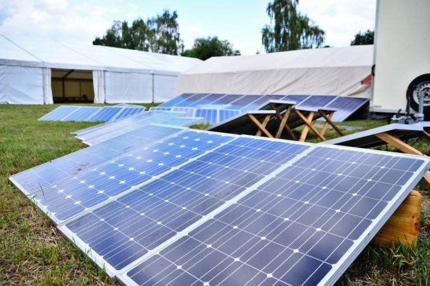 Klimacamp Aufbau 2019. Quelle: Klimacamp Leipziger Land