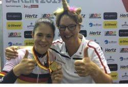 Michaela Ebert und Trainerin Petra Rossner. Quelle: Privat