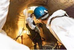 Tag der offenen Tür im Klärwerk Rosental: Beim Kanaleinstieg Wissenswertes rund um die Leipziger Kanalisation erfahren. Foto: Leipziger Gruppe
