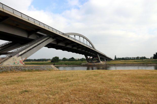 Die Waldschlösschenbrücke in Dresden ohne FFH-Prüfung. Foto: L-IZ.de