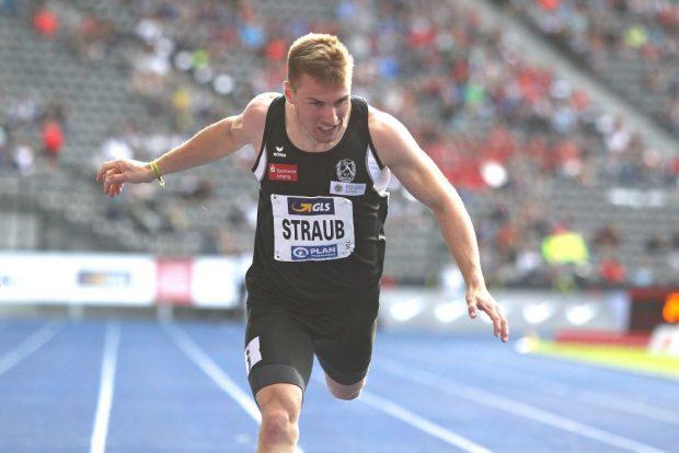 Am Vormittag wurde Felix Straub Deutscher Meister mit der Staffel, am Abend lief er über 200 Meter auf den 4. Platz.