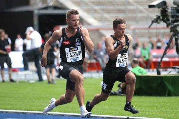 Auch Roy Schmidt (DHfK) hätte sich ein besseres Ergebnis im 100-Meter-Wettbewerb gewünscht. Foto: Jan Kaefer