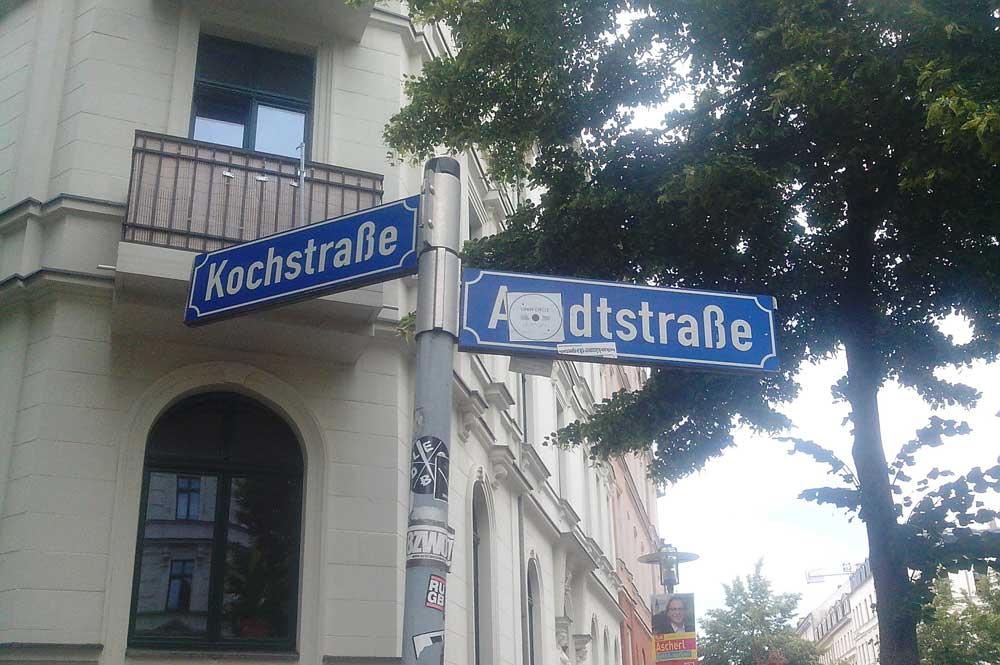 Arndtstraße / Ecke Kochstraße. Foto: Alexander John
