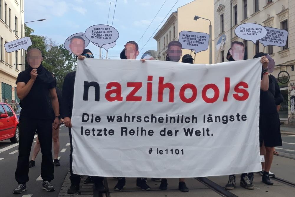 Protest gegen mangelhafte Aufklärung in den Connewitz-Prozessen. Foto: René Loch