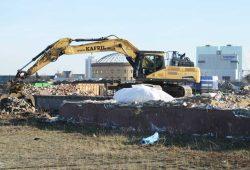 Abbrucharbeiten auf dem Gelände des Eutritzscher Freiladebahnhofs. Foto: Ralf Julke