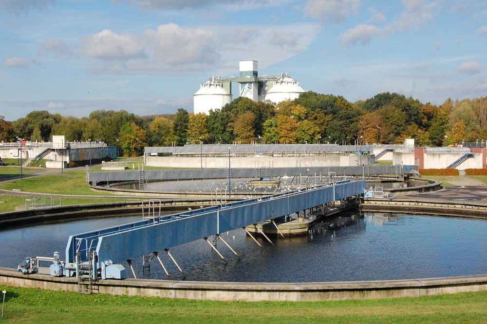Klärwerk im Rosental. Foto: Kommunale Wasserwerke Leipzig