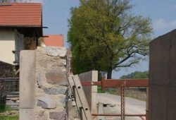 Bau der Hochwasserschutzmauern an der Grimmaer Altstadt 2013. Foto: Stadt Grimma