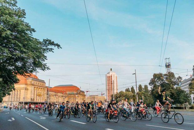 Zur Leipziger Radnacht auf den Ring. Foto: Ökolöwe