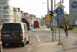 Radweg an der Lützner Straße. Foto: Ralf Julke
