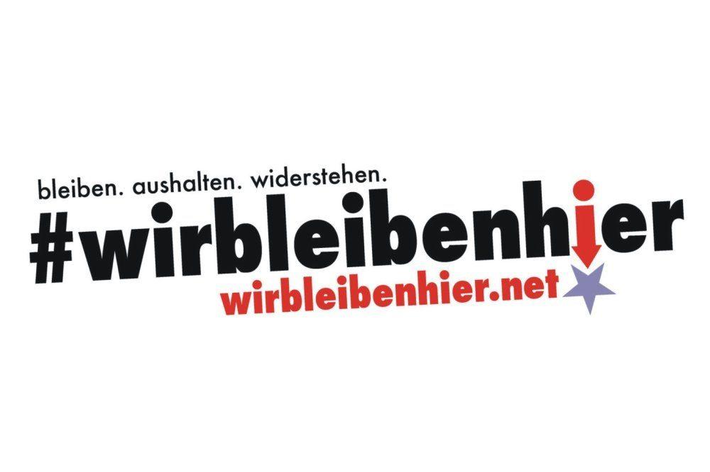 """Die Initiative """"Wir bleiben hier"""" fragt nach Engagegement statt Jammerei. Foto: Screen Wir bleiben hier"""