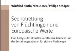 """Cover des Buchs (Ausschnitt) """"Seenotrettung von Flüchtlingen und Europäische Werte"""" Foto: Universitätsverlag Halle-Wittenberg"""