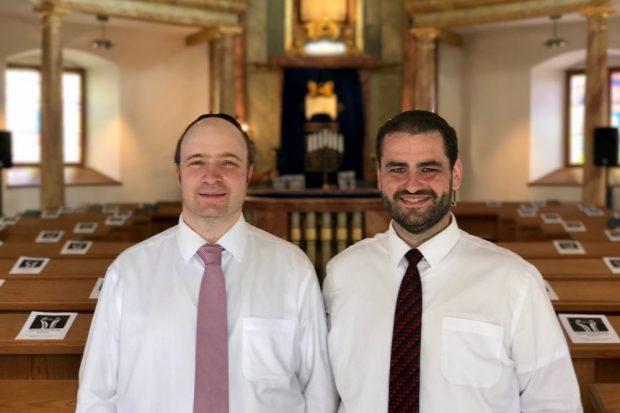 Die Rabbiner Zsolt Balla und Daniel Fabian. Quelle: Ariowitsch-Haus e. V.