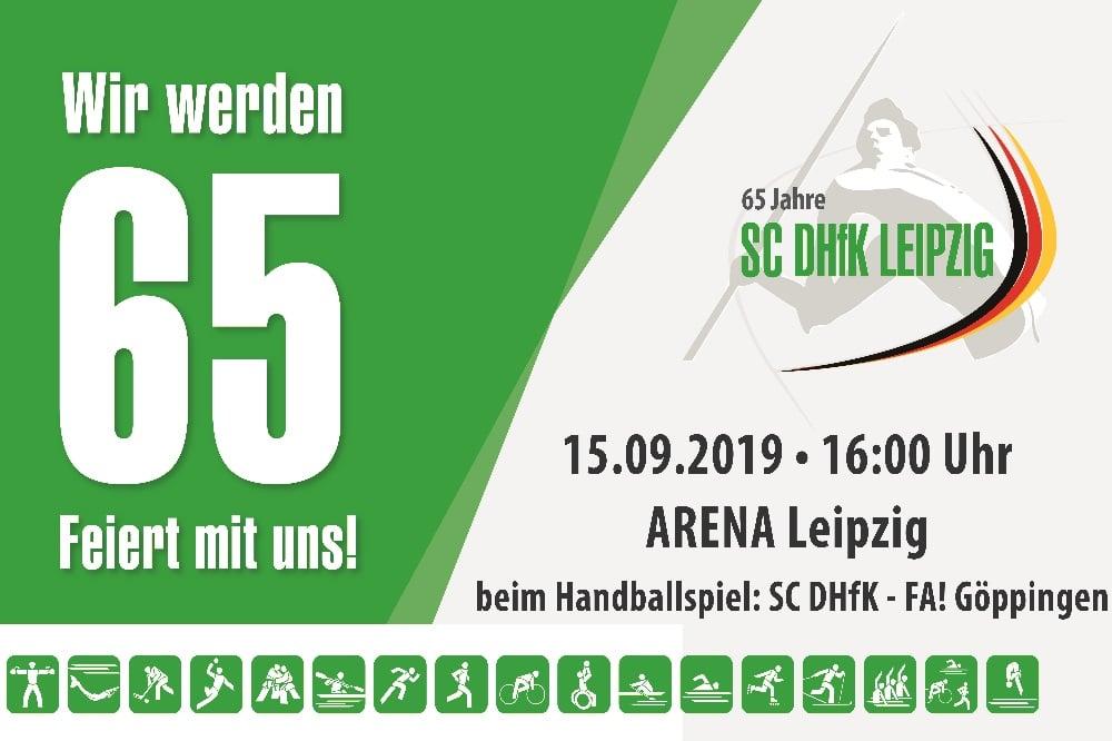Einladung zum 65-jährigen Jubiläum des SC DHfK. Quelle: SC DHfK