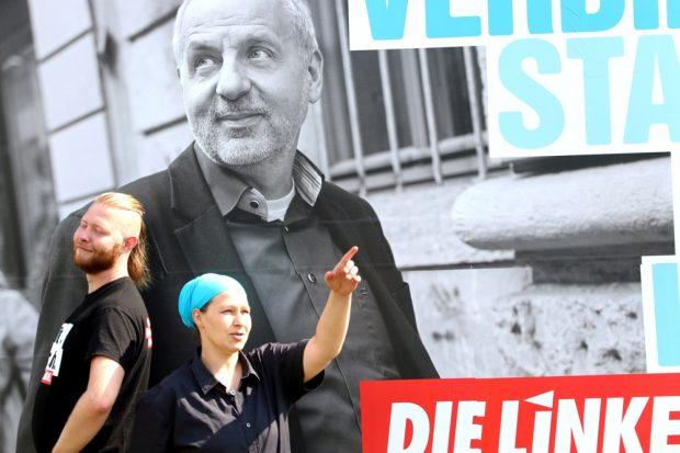 Eyk Fechner und Angela Fuchs in Waldheim und die Frage nach der Richtung. Foto: L-IZ.de