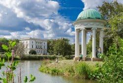 Das 1896/97 errichtete Weiße Haus im Markkleeberger agra-Park bietet heute Raum für Trauungen bei Hochzeiten, Konzerte, Vorträge und Ausstellungen. © Matthias Wuttig / Foto für Dich