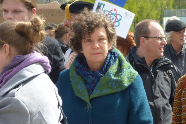Unirektorin Beate Schücking beim March for Science am 22. April 2017. Foto: L-IZ.de