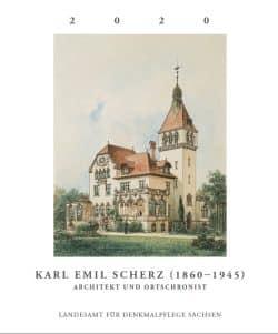 Titelblatt mit Schaubild der Villa Rothermundt in Blasewitz von Karl Emil Scherz,1897. Quelle: LfD