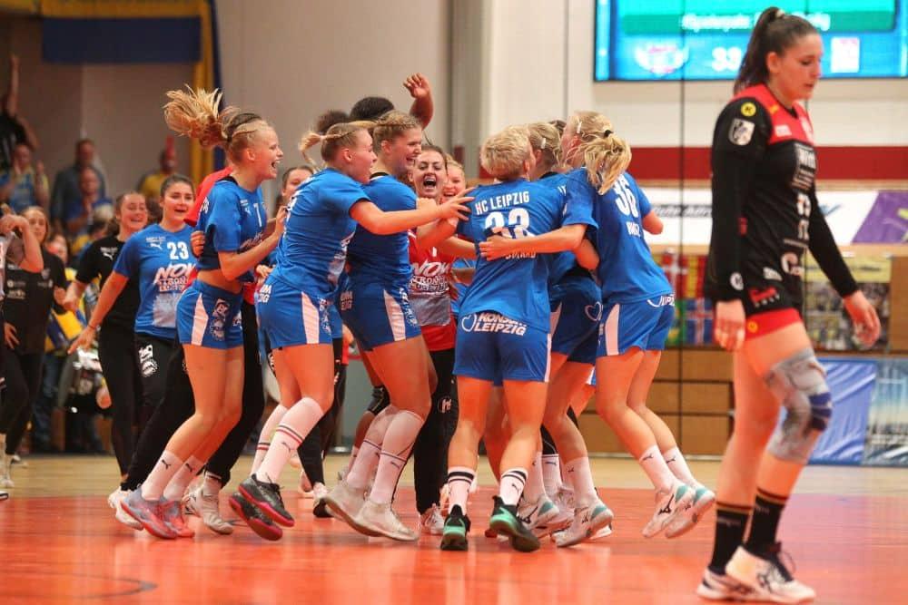 Erstes Spiel, erster Sieg. Der HCL scheint gut in der 2. Bundesliga angekommen zu sein. Foto: Jan Kaefer