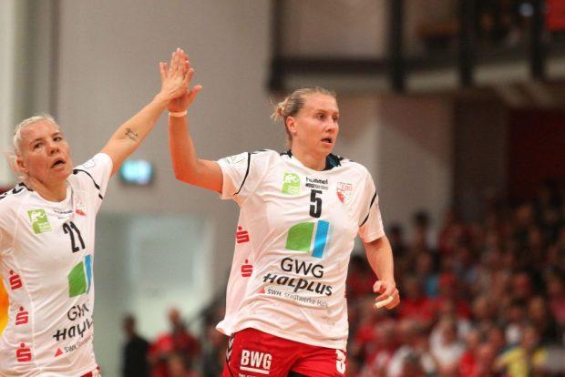 Saskia Lang kehrte mit Union Halle-Neustadt nach Leipzig zurück - und schenkte dem HCL gleich 13 mal ein. Foto: Jan Kaefer