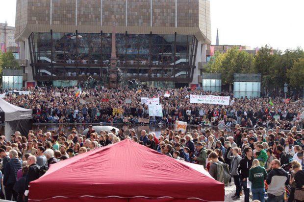 Klimastreik am Freitag, 20. September, in Leipzig. Foto: L-IZ.de