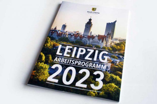 Das Arbeitsprogramm 2023. Foto: Ralf Julke