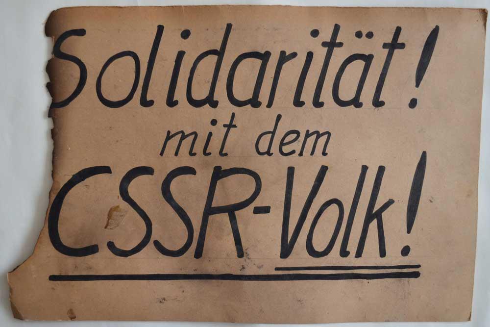 Leipziger Demo-Plakat von 1989. Foto: Stadtgeschichtliches Museum