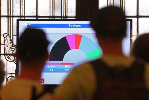 Erste Prognosen auch im Rathaus Leipzig. Foto: L-IZ.de