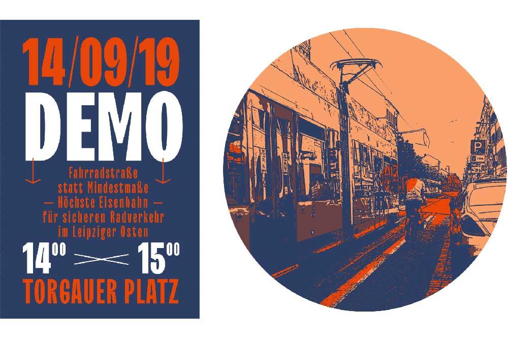 Fahrrad-Demo am 14. September. Grafik: Wieland Götzler