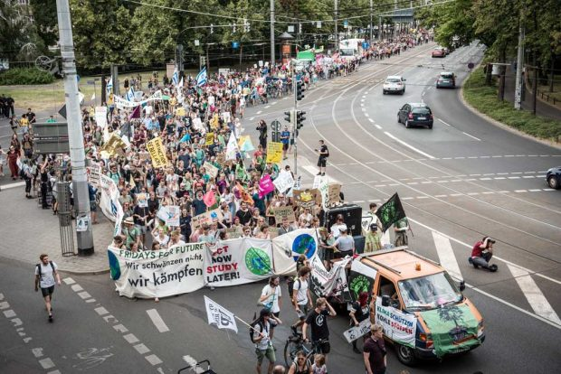 Fridays for Future auf dem Leipziger Ring. Foto: Fridays for Future Leipzig