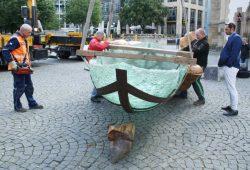 Die Glasarche auf dem Thomaskirchhof. Foto: Ralf Julke