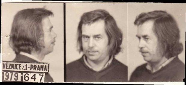 Haftfoto des VONS-Mitglieds Václav Havel, 1979. Foto: Tschechisches Nationalarchiv