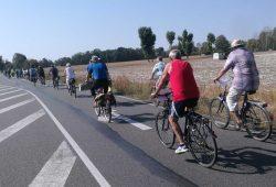 Fahrrad-Demo an der B2 nach Hohenossig. Foto: Volker Holzendorf