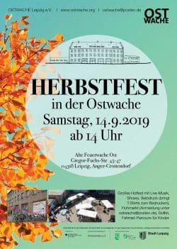 Plakat zum Herbstfest auf dem Hof der Ostwache. Grafik: Ostwache Leipzig e.V.