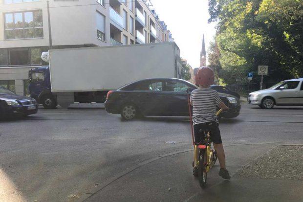 Die Situation an der Kreuzung Schreberstraße / Käthe-Kollwitz-Straße. Foto: Markus Engel
