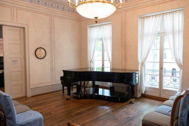 Raum für kleine Konzerte im Schumann-Haus. Foto: Christian Kern