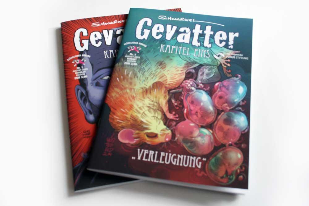 Schwarwel: Gevatter, Kapitel 1: Verleugnung. Foto: Ralf Julke