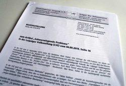 Die Richtigstellung des Bürgerkomitees Leipzig. Foto: L-IZ