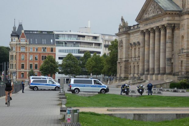 Am Simsonplatz um 16:37 Uhr. Foto: L-IZ.de