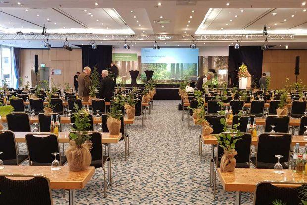 Tagungsraum für den Waldgipfel. Foto: Wolfgang Stoiber