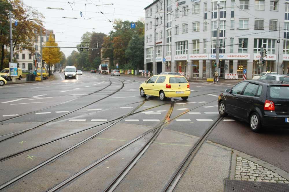 Der Westplatz mit Blick in die westliche Käthe-Kollwitz-Straße. Foto: Ralf Julke