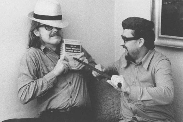 Musiker Paul Wilson und Literaturkritiker und Herausgeber Jan Lopatká, 1976. Foto: Helena Wilsonová, Archiv von Jan Lopatková