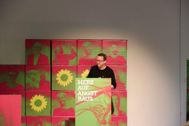 Landessprecher der Grünen Norman Volger eröffnete die Debatte zur Wahlkampfauswertung. Foto: L-IZ.de