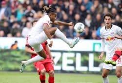 Nkunku erzielte in der 78. Minute den Ausgleich für Leipzig. Foto: Gepa Pictures
