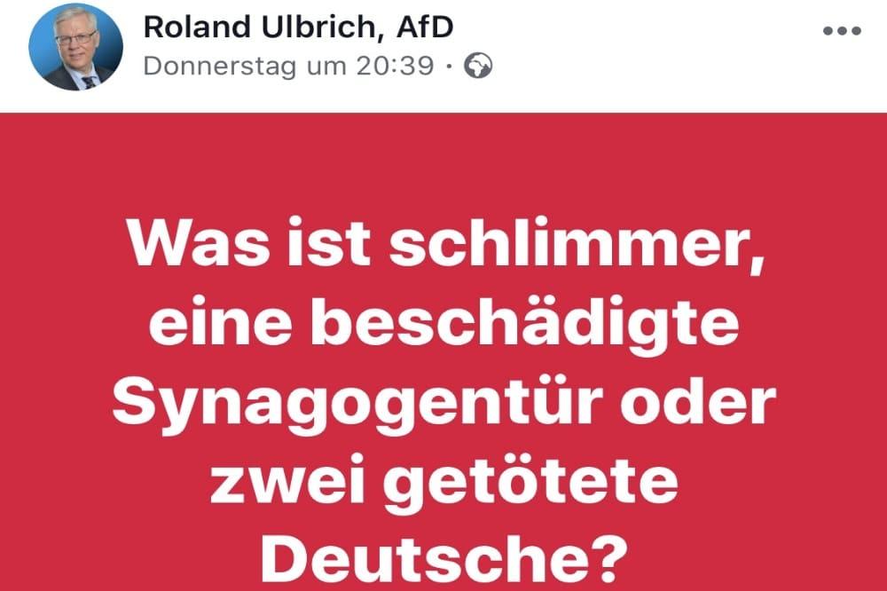 Facebookeintrag Roland Ulbrich. Quelle: Die Linke Fraktion im Stadtrat Leipzig