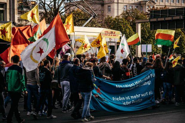 Angesichts des demokratischen Weges der Kurden in ihren autonomen gebieten gibt es eine wachsende Unterstützung. Foto: Tobias Möritz