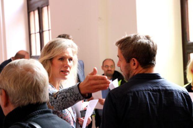 Katharina Krefft (B90/Die Grünen) vor dem Ratssaal am 30. Oktober 2019. Foto: Michael Freitag